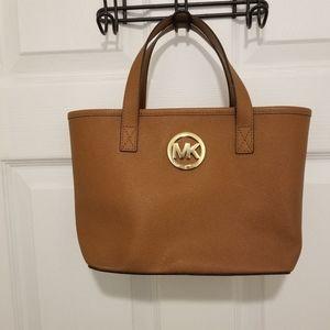 Michael Kors tan leather satchel Authentic